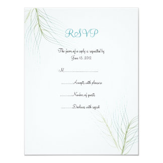 Feathery Wisps RSVP Cards Invitation