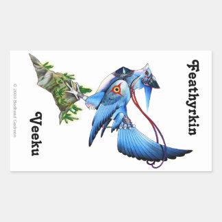 Feathykin Veeku Rectangle Sticker