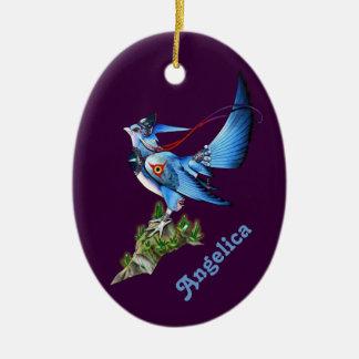 Feathyrkin Veeku Oval Ornament