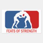Feats of Strength Rectangular Sticker