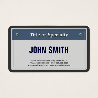 Featured and Cool Car License Plate Business Card