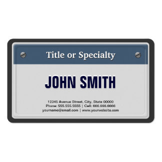Featured and Cool Car License Plate Double-Sided Standard Business Cards (Pack Of 100)