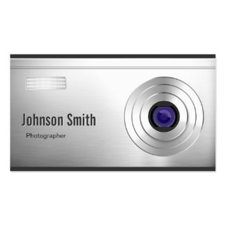 Featured Digital Camera Lens - Photography Double-Sided Standard Business Cards (Pack Of 100)
