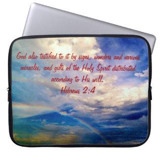 Feb 4th - Bible Verse Birth Electronic Bag Computer Sleeve