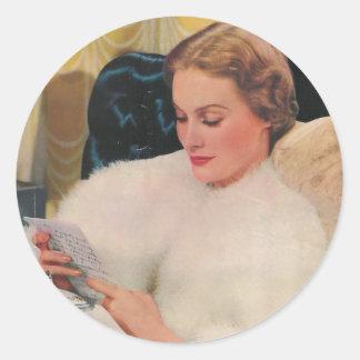 feb delineator magazine cover sticker
