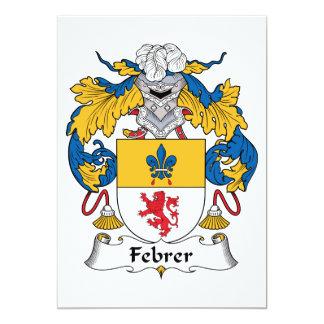 Febrer Family Crest Invitation