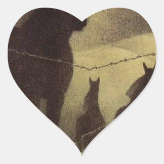 Febrero de Grant Wood Pegatina En Forma De Corazón