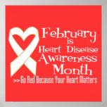 Febrero es mes de la conciencia de la enfermedad c posters