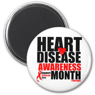 Febrero - mes de la enfermedad cardíaca iman de frigorífico