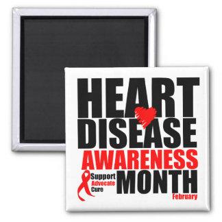 Febrero - mes de la enfermedad cardíaca imanes