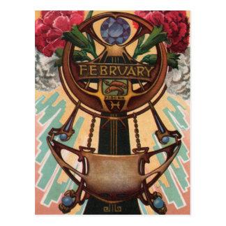 Febrero - Piscis Tarjetas Postales
