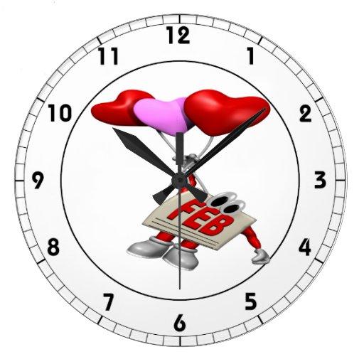 Febrero Relojes De Pared