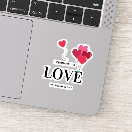 FEBRUARY 14 LOVE VALENTINE' DAY STICKER