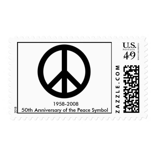 February 21 50th anniversary of the peace symbol stamps zazzle - Th anniversary symbol ...