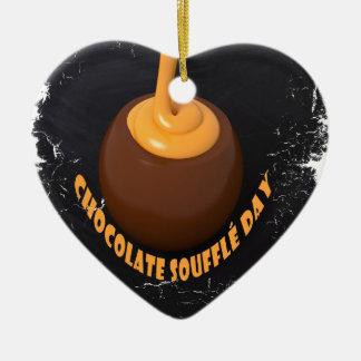 February 28th - Chocolate Soufflé Day Ceramic Ornament