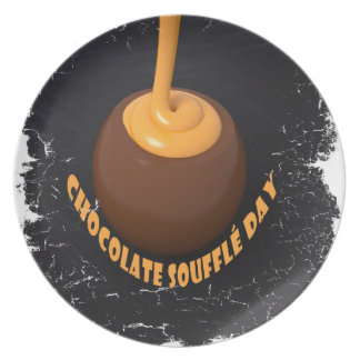 February 28th - Chocolate Soufflé Day Dinner Plate