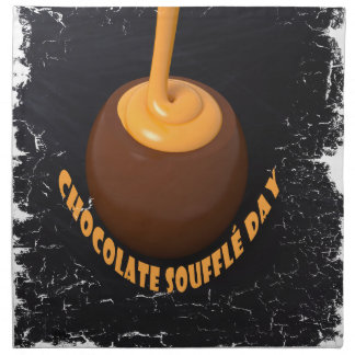 February 28th - Chocolate Soufflé Day Napkin