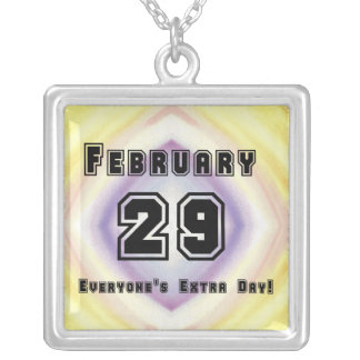 February 29 Everyone's Extra Day! Silver Plated Necklace