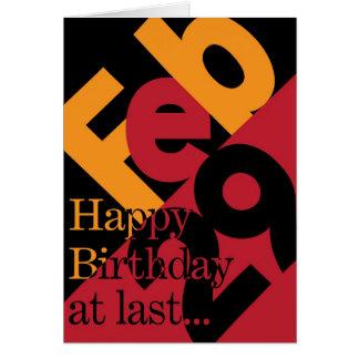 February 29 Happy Birthday Card