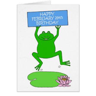 February 29th Birthday. Card