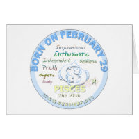 February 29th Birthday - Pisces Greeting Card