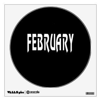 February 2 room stickers