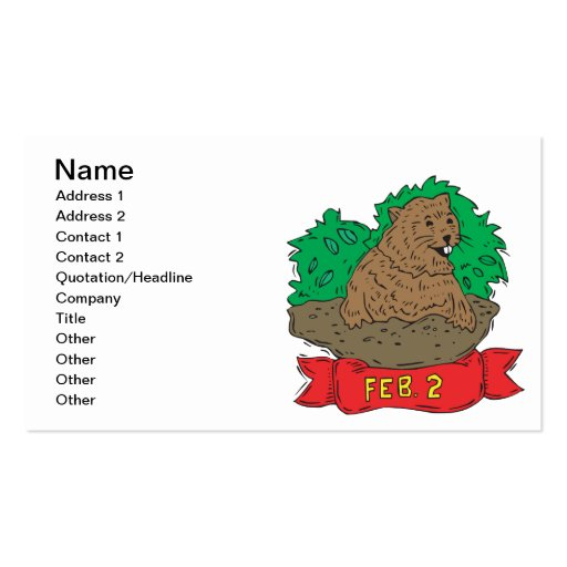 February 2nd business card