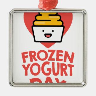February 6th - Frozen Yogurt Day Metal Ornament