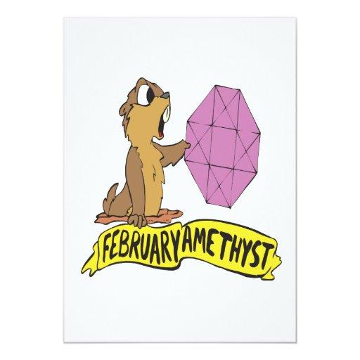 February Amethyst Card
