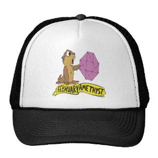February Amethyst Trucker Hat