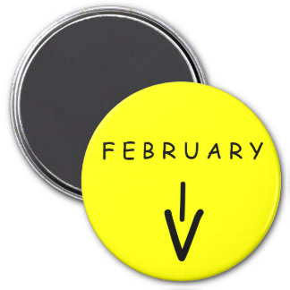 February Arrow Yellow Large Magnet by Janz