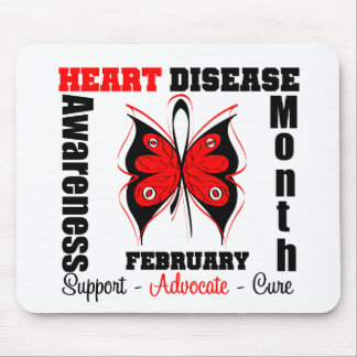 February Awareness Month - Butterfly Heart Disease Mouse Pad