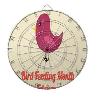 February - Bird-Feeding Month - Appreciation Day Dartboard