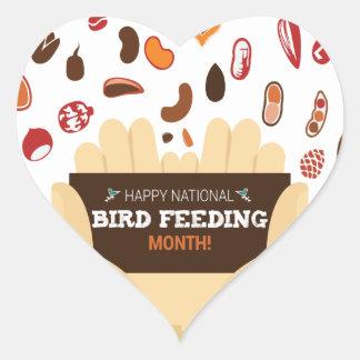 February Bird-Feeding Month - Appreciation Day Heart Sticker