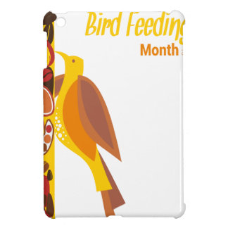 February - Bird-Feeding Month - Appreciation Day iPad Mini Cover