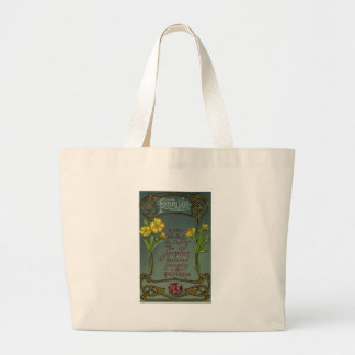 February Birthday Primrose & Amethyst Large Tote Bag