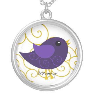 February Birthstone Bird Jewelry