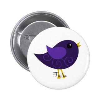 February Birthstone Bird Pinback Button