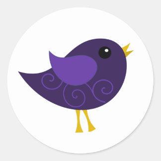 February Birthstone Bird Round Stickers
