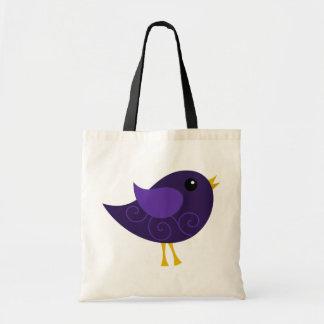 February Birthstone Bird Tote Bag