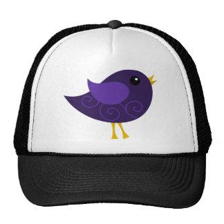 February Birthstone Bird Trucker Hats