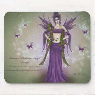 February Birthstone Fairy Mouse Pad