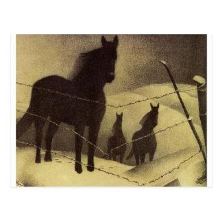 February by Grant Wood Postcard