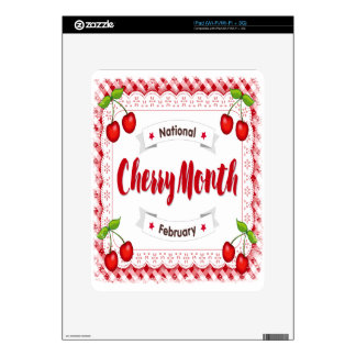 February - Cherry Month - Appreciation Day Decal For The iPad