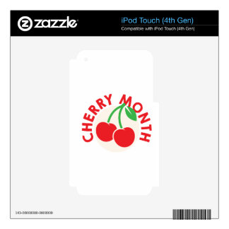 February - Cherry Month - Appreciation Day iPod Touch 4G Decals