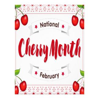 February - Cherry Month - Appreciation Day Letterhead