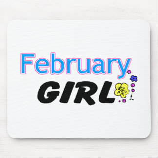 February Girl Mouse Pad
