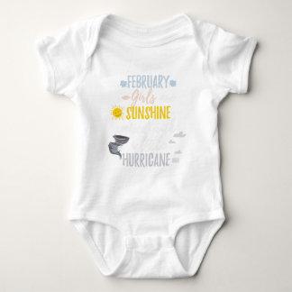 FEBRUARY Girls Sunshine and Hurricane Birth Month Baby Bodysuit