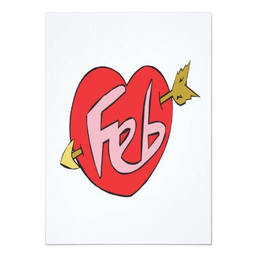 February Heart Card