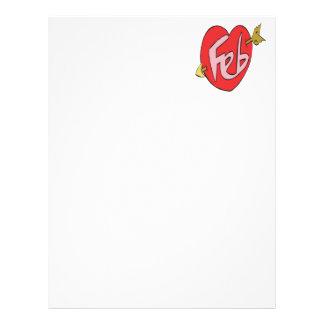 February Heart Custom Letterhead